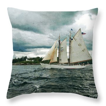 Sailing Away  Throw Pillow by Alana Ranney