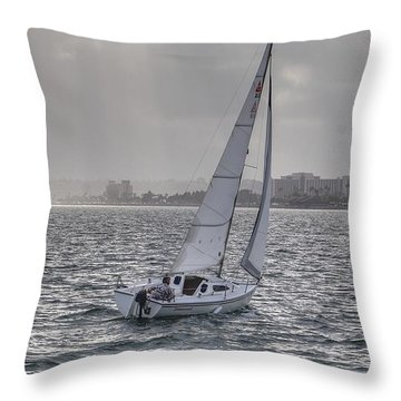 Sailing Bliss  Throw Pillow