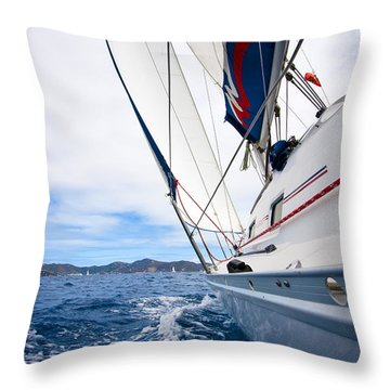 Sailing Bvi Throw Pillow