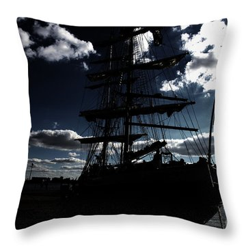 Sailing By Night Throw Pillow by Four Hands Art