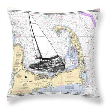 Sailing Cape Cod Bay Throw Pillow