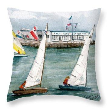 Sailing Class  Throw Pillow