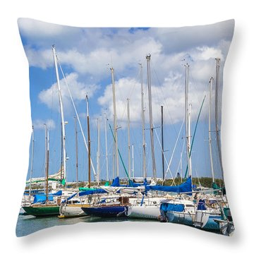 Throw Pillow featuring the photograph Sailing Club Marina 1 by Leigh Anne Meeks