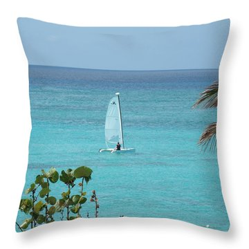Throw Pillow featuring the photograph Sailing by David S Reynolds