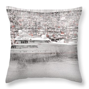 Throw Pillow featuring the digital art Sailing by Davina Washington