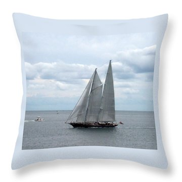 Sailing Day Throw Pillow by Catherine Gagne