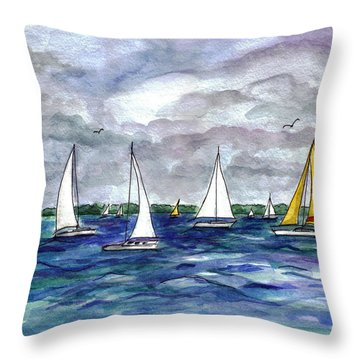Sailing Day Throw Pillow