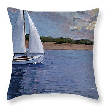 Sailing Homeward Bound Throw Pillow