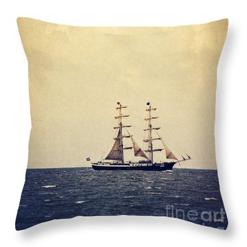 Sailing II Throw Pillow by Angela Doelling AD DESIGN Photo and PhotoArt