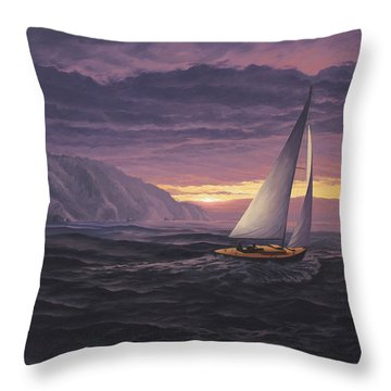 Sailing In Paradise - Big Sur Throw Pillow