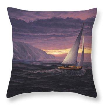 Sailing In Paradise - Big Sur Throw Pillow