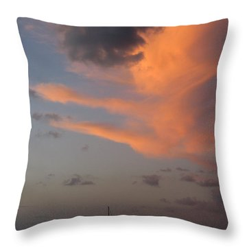 Sundown Over Trunk Bay Throw Pillow