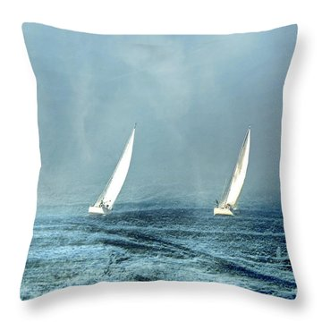 Sailing Into The Unknown Throw Pillow