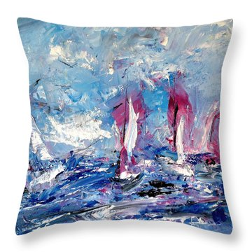 Sailing Magic Throw Pillow
