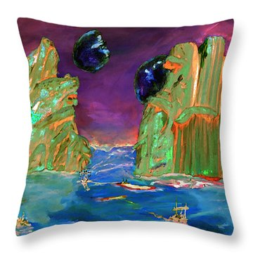 Sailing On Beta Antares 3 Throw Pillow