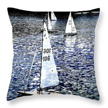 Sailing On Blue Throw Pillow by Steve Taylor