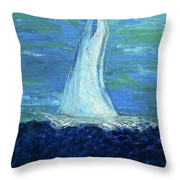 Sailing On The Blue Throw Pillow