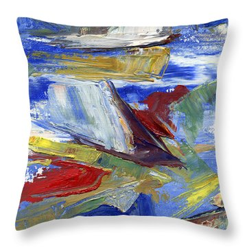 Sailing Throw Pillow by Pamela Parsons