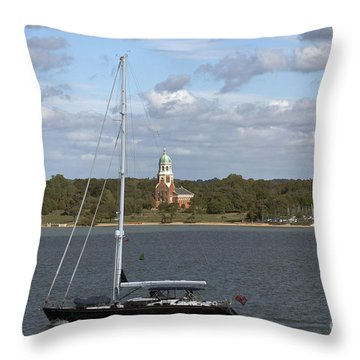 Sailing Past Netley Throw Pillow
