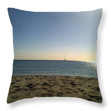Throw Pillow featuring the photograph Sailing by Ramona Matei