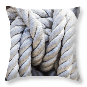 Throw Pillow featuring the photograph Sailing Rope 1 by Leigh Anne Meeks