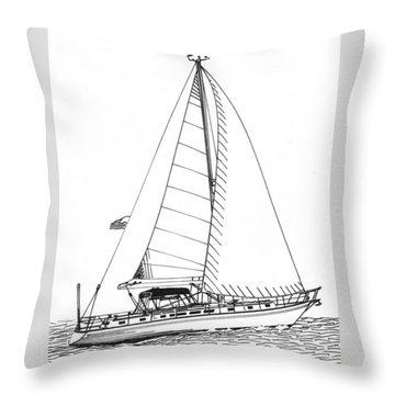 Sailing Sailing Sailing Throw Pillow by Jack Pumphrey