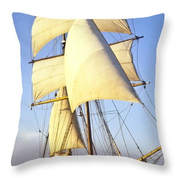 Sailing Ship Carribean Throw Pillow