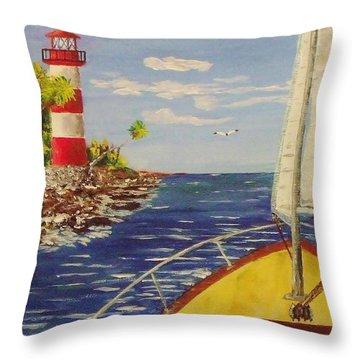 Sailing The Coast Throw Pillow