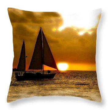 Sailing The Keys Throw Pillow