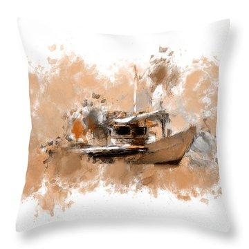 Sailing Time Throw Pillow by Lourry Legarde