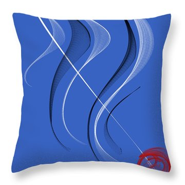 Sailing To The Rhythm Of Music Throw Pillow by Angela A Stanton