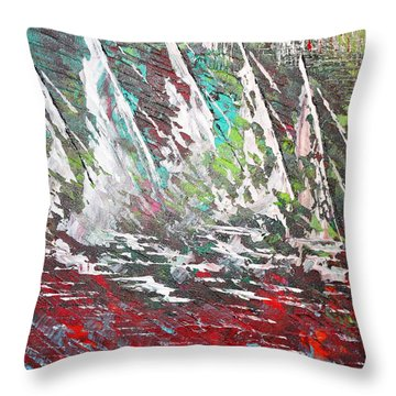Sailing Together - Sold Throw Pillow