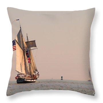 Sailing Vessel Throw Pillow