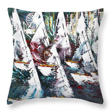 Sailing With Friends - Sold Throw Pillow
