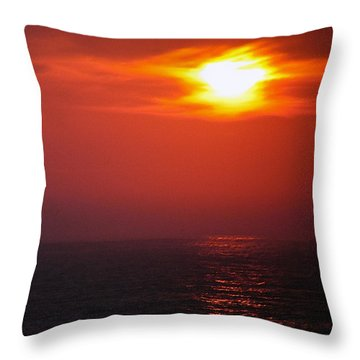 Sailor Take Warning... Throw Pillow