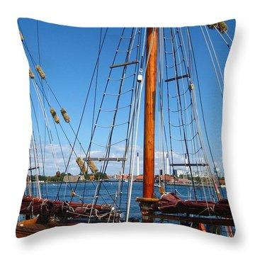 Throw Pillow featuring the photograph Sailship by Susanne Baumann