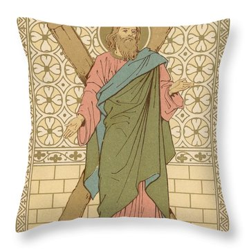 Saint Andrew Throw Pillow by English School