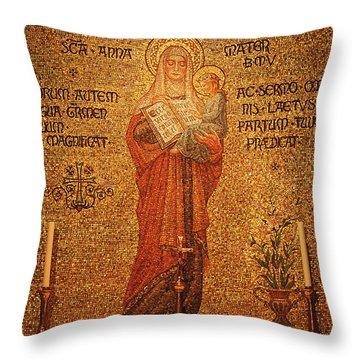Saint Anne Altar Throw Pillow