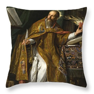 Saint Augustine Throw Pillow