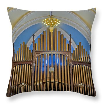 Saint Bridgets Pipe Organ Throw Pillow by Susan Candelario