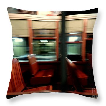 New Orleans Saint Charles Avenue Street Car In New Orleans Louisiana #6 Throw Pillow by Michael Hoard