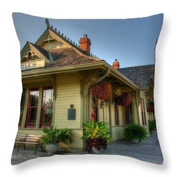 Saint Charles Station Throw Pillow by Steve Stuller