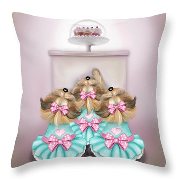 Saint Cupcakes Throw Pillow