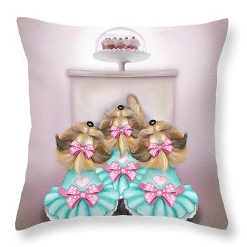 Saint Cupcakes Throw Pillow by Catia Cho
