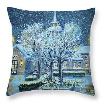 Saint Dominic Chapel Providence College Throw Pillow