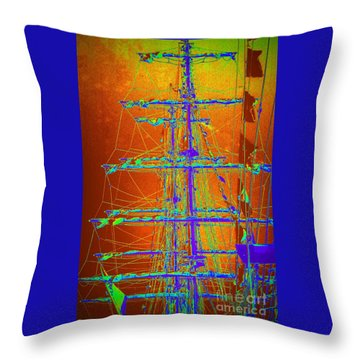 New Orleans Saint Elmo Fire Throw Pillow by Michael Hoard