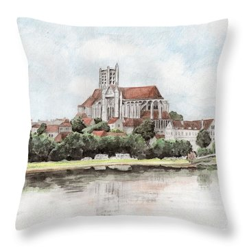 Saint-etienne A Auxerre Throw Pillow