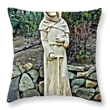 Saint Fiacre Throw Pillow