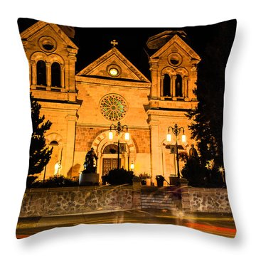 Saint Francis Cathedral Throw Pillow