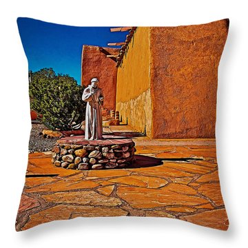 Saint Francis Throw Pillow